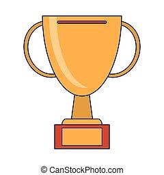 trophée, championnat, tasse