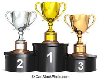 trophée, cups.