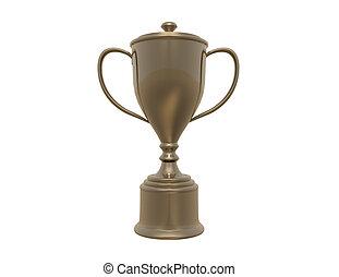 trophée, fond blanc