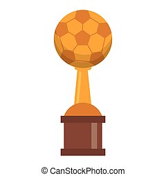 trophée, football, championnat, tasse