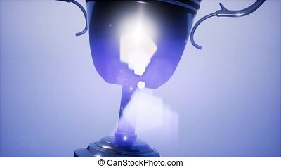 trophée, lent, champion, tasse, mouvement, super