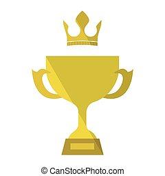 trophée, or, icône
