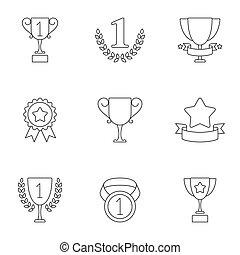 trophée, récompenses, icônes