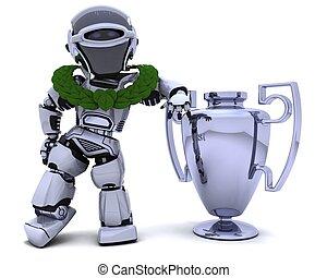 trophée, robot