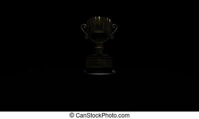 trophée, stand, enjôleur
