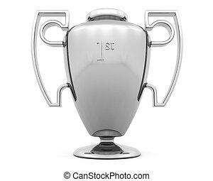 Trophy - 3D render of a silver trophy