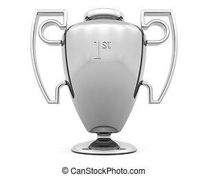 Trophy - 3D render of a silver trophy