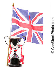 Trophy and union jack