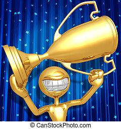 Trophy Award Ceremony - 3D Concept And Presentation Figure