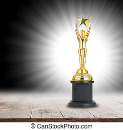 Trophy awards after successful winner for your business.