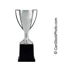 Trophy - Blank trophy cup isolated on a white background