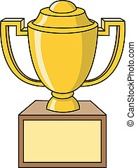 Trophy Cup - Cartoon illustration of a trophy cup