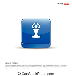 Trophy Cup Icon - 3d Blue Button