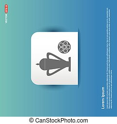 Trophy Cup Icon - Blue Sticker button