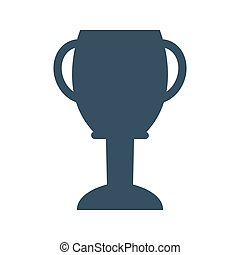 Trophy cup icon on white background.