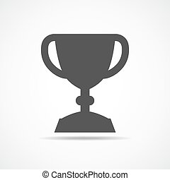 Trophy cup icon. Vector illustration.