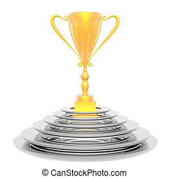 trophy cup isolated on a white