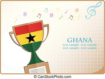 Greetings from ghana illustrations and clipart 7 greetings from trophy cup logo made from the flag of ghana m4hsunfo
