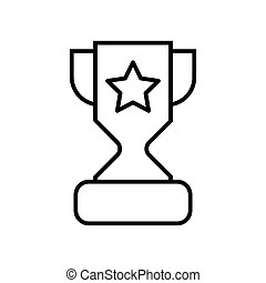 Trophy cup with a star line icon. vector illustration isolated on white. outline style design, designed for web and app. Eps 10