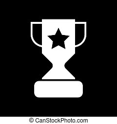 Trophy cup with a star solid icon. vector illustration isolated on black. glyph style design, designed for web and app. Eps 10