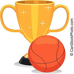 Trophy Cup with Basketball