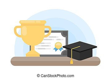 trophy., diploma