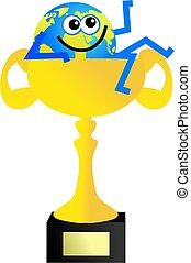 trophy globe