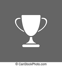 Trophy icon on black background