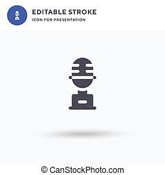 Trophy icon vector, filled flat sign, solid pictogram isolated on white, logo illustration. Trophy icon for presentation.