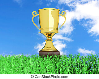Trophy in the Grass