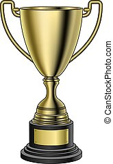 Trophy is an illustration of a trophy. Great for sports championships designs and t-shirt designs.