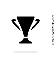 Trophy simple icon on white background.