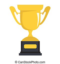 Trophy sport cup award vector illustration for design and web isolated on white