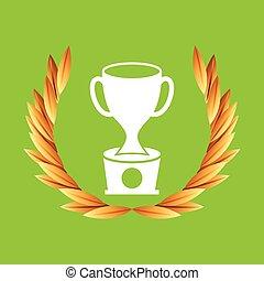 trophy sport olympic blue badge