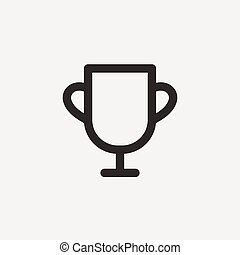trophy thin line icon