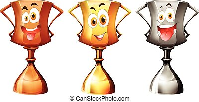 Trophy with happy face
