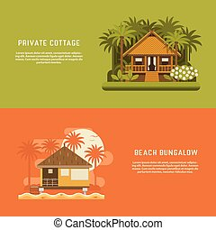 Tropic Bungalow Banners