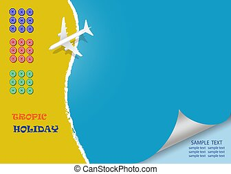 Tropic holiday concept vector