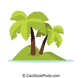 Tropic Island Concept Vector Illustration Banner