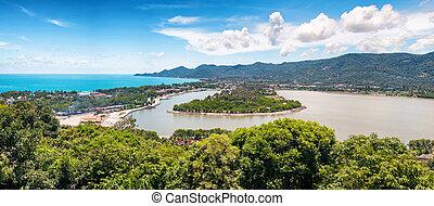 Tropic recreation shore - Tropic island Samui, sea and...