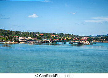 Tropic recreation shore - Tropic island Samui, sea...