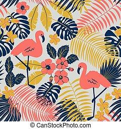tropic, seamless, パターン