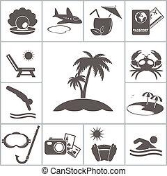 tropic, tilholdsted, iconerne