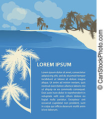 Tropic travel design template