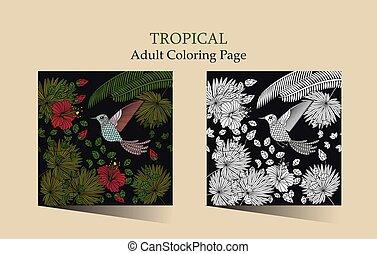 Tropic vector illustration.