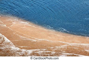 tropicais, aéreo, praia, vista