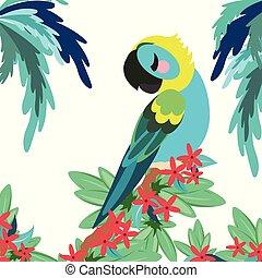 tropicais, bandeira, papagaio