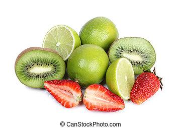tropicais, branca, fruta