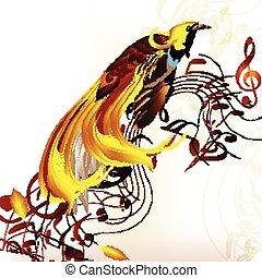 tropicais, coloridos, pássaro, aduelas