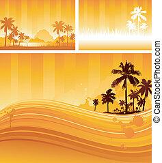 tropicais, desenho, fundo